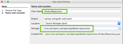 Spring Boot, MVC, Data and MongoDB CRUD Java Web Application - New Java Interface