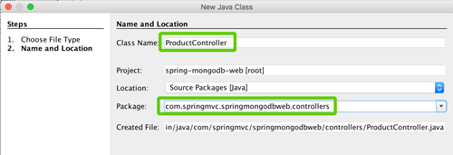 Spring Boot, MVC, Data and MongoDB CRUD Java Web Application - New Java Class for Controller