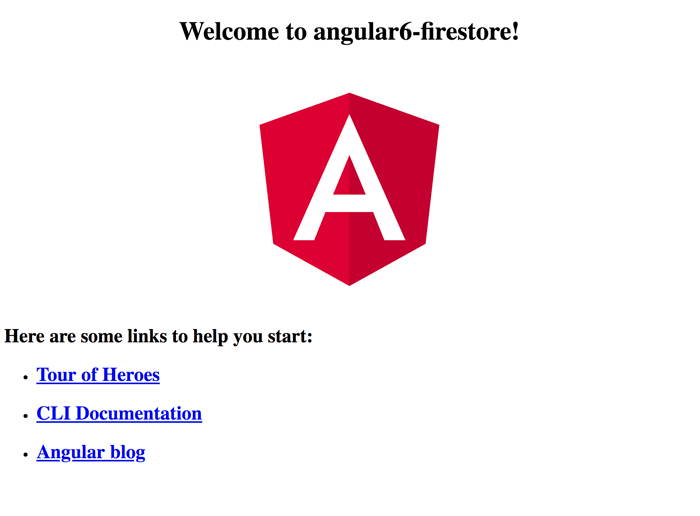 Angular 6 Firebase Tutorial: Firestore CRUD Web Application - Angular 6 Welcome Page
