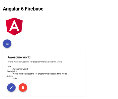 Angular 6 Firebase Tutorial: Firestore CRUD Web Application