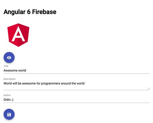Angular 6 Firebase Tutorial: Firestore CRUD Web Application - Edit Board