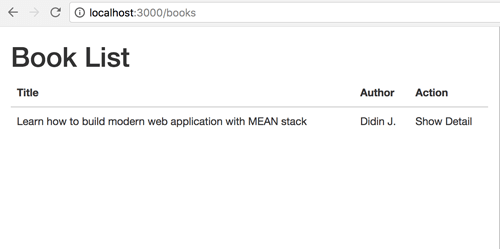 MEAN Stack (Angular 5) CRUD Web Application Example - Book List
