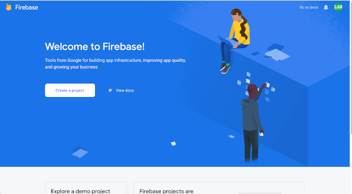 Angular 9 Tutorial: Creating Firebase Chat Web App - firebase welcome