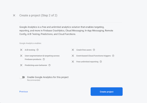 Angular 9 Tutorial: Creating Firebase Chat Web App - Firebase analytics