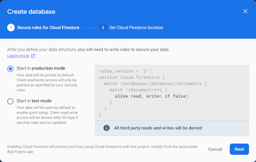 React JS Tutorial: Building Firebase Chat App (React Hooks) - create database