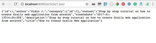 JSON Result in Browser