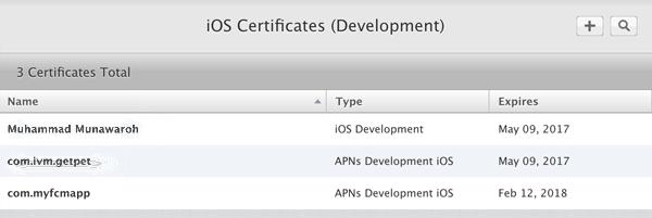Ionic 2 FCM - iOS Certificates