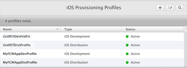 Ionic 2 FCM - iOS Provisioning Profiles