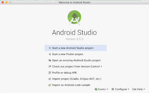 Flutter Tutorial: Consume CRUD REST API Android and iOS Apps - Android Studio Welcome