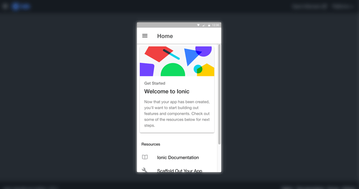 Ionic 4 Angular 8 Multilevel Accordion Collapsible Menu - Ionic home