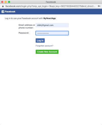 React.js Tutorial: Facebook Login Example - Demo 2