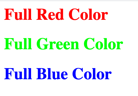 HTML 5 Tutorial: Color Codes - Single HEX Color