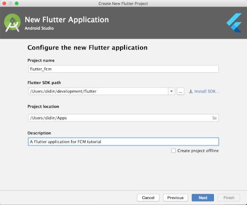 Flutter Tutorial: Firebase Cloud Messaging FCM Push Notification - Configure new flutter