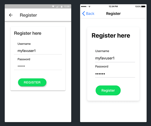 Ionic 4 and Angular 7 Tutorial: HTTP Interceptor Example - Register Page