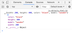 Javascript Objects - Properties Example