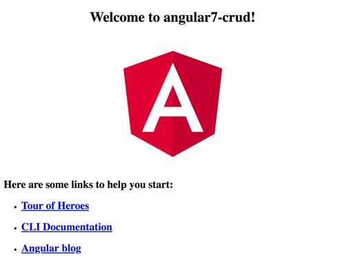 Angular 7 Tutorial: Building CRUD Web Application - Angular 7 Welcome Page