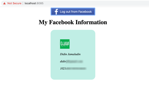 Vue.js 2 Tutorial: Facebook Login Example - User Profile
