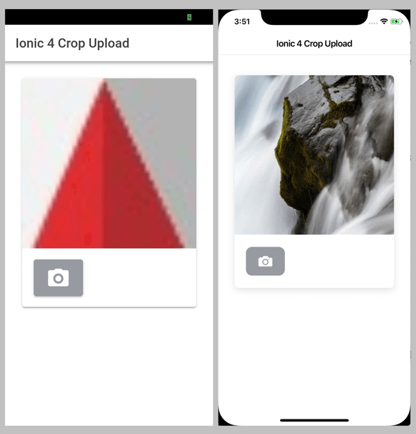 Ionic 4, Angular 7 and Cordova Crop and Upload Image - Cropped and Uploaded Image