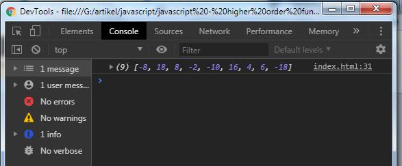 Javascript Tutorial: Higher Order Function - Example 2