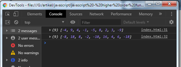 Javascript Tutorial: Higher Order Function - Example 3