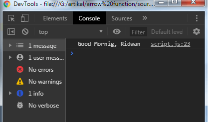 Javascript function: Arrow function - example 2