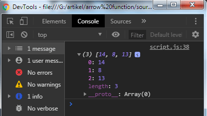 Javascript function: Arrow function - example 6