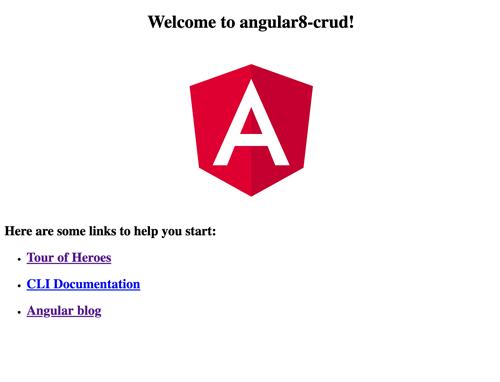 Angular 8 Tutorial: Learn to Build Angular 8 CRUD Web App - Angular 8 Welcome Page