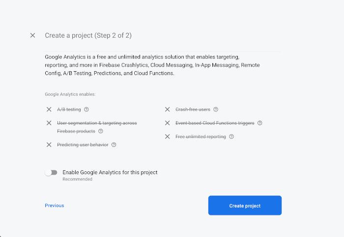 React Native Tutorial: Firebase Email Login Example - Firebase Google Analytics Enabled