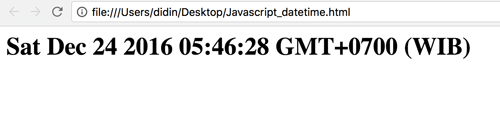 Full Javascript Datetime