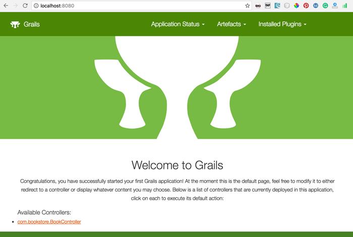 Grails 3 and MongoDB - Home page