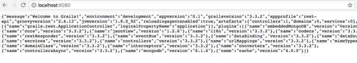 Grails 3, MongoDB and REST API Profile CRUD Application - Grails in the browser