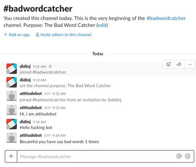 Spring Boot + MongoDB Slack Bot Example - Slack Bad Word Catcher