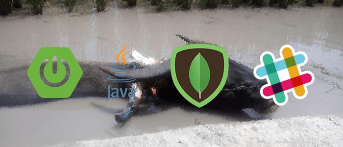 Spring Boot + MongoDB Slack Bot Example