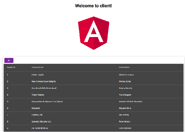 Building Web App using ASP.NET Web API Angular 7 and SQL Server - List of Suppliers