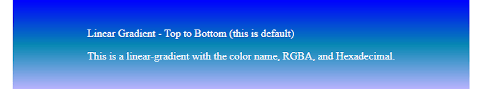 CSS3 Tutorial: Gradients Color - Example 2