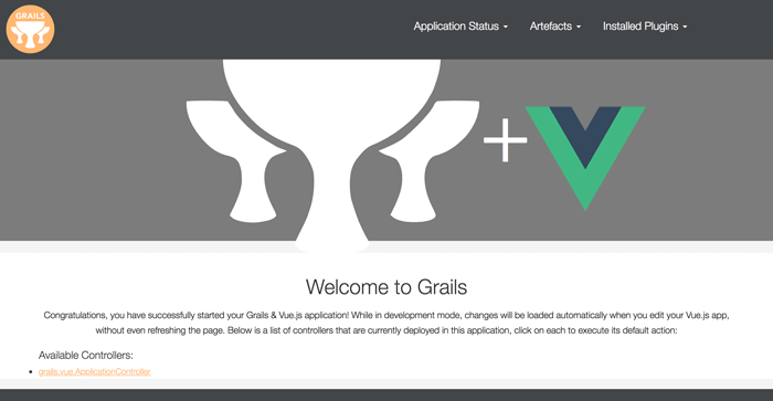 How to Build Grails 3, MongoDB and Vue.js CRUD Web Application - Grails Vue Page