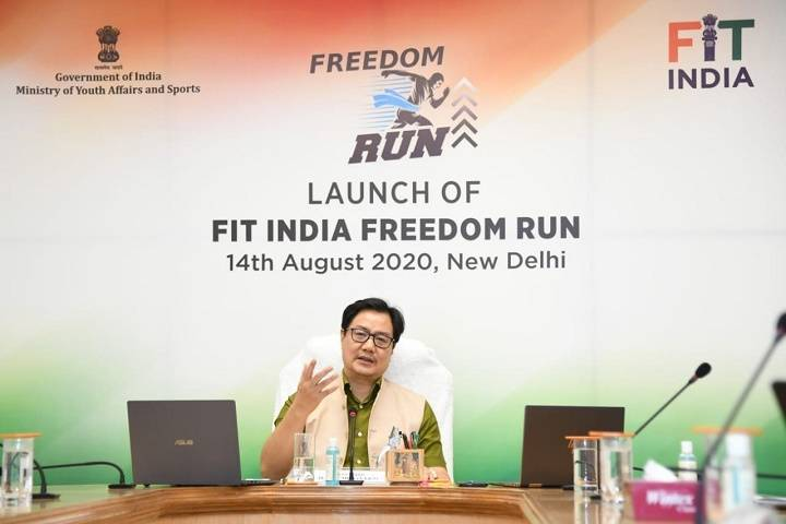 sports minister kiren rijiju launches