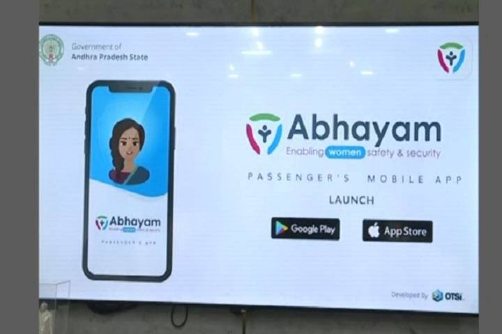 """abhayam app""- for safety of"