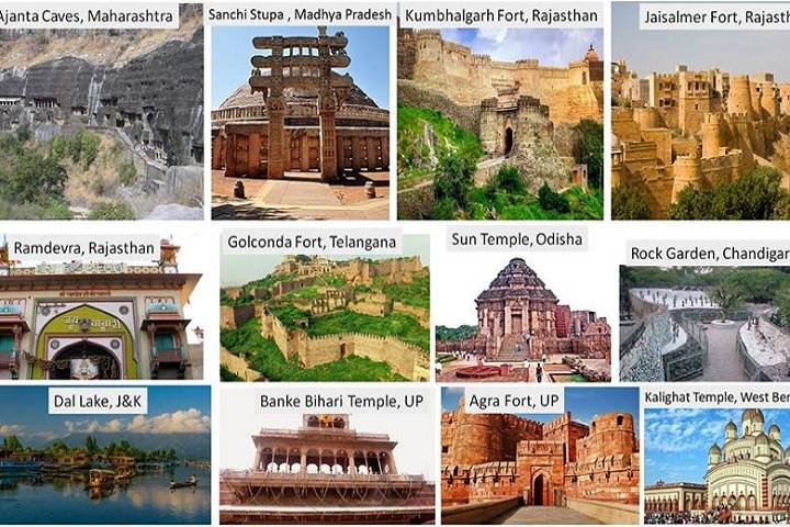 list of 'swachh iconic places'