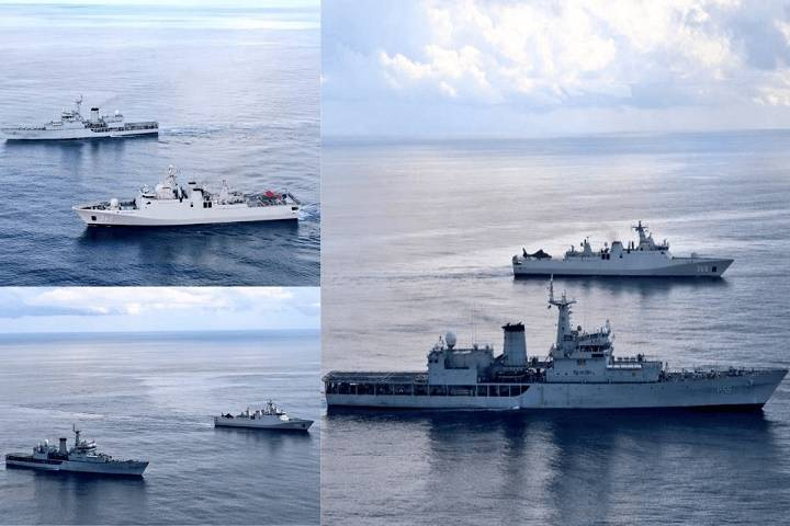 indian and indonesian navies conducted