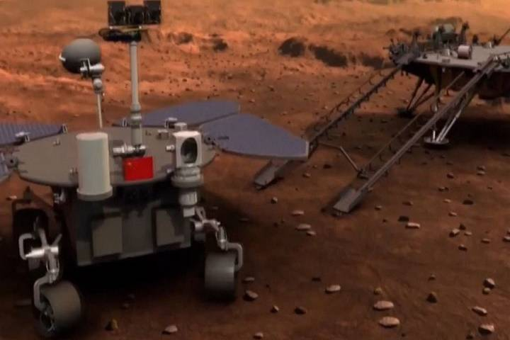 china's first mars rover, zhu rong