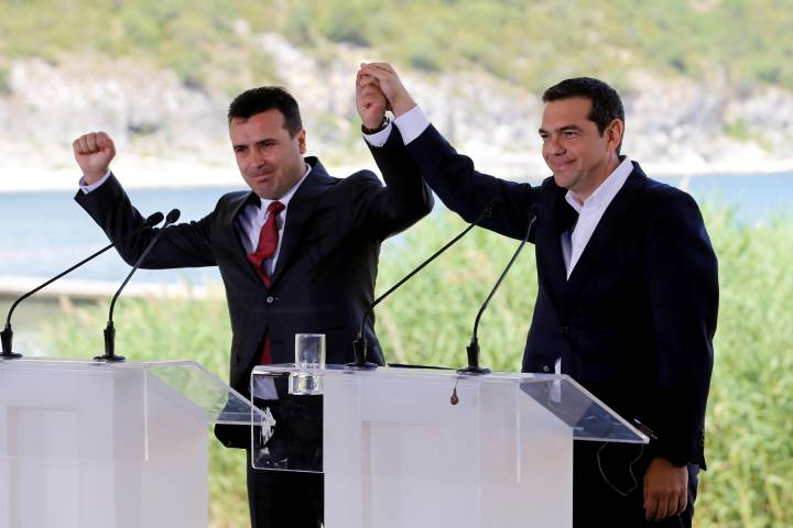 greece and macedonia prime ministers