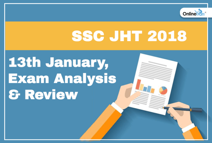 ssc jht exam analysis, paper review