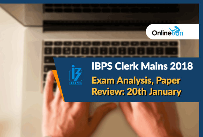 ibps clerk mains exam analysis,