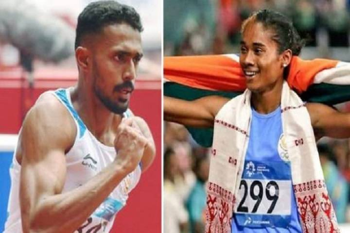hima das, mohammad anas win gold