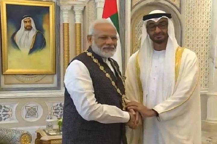 narendra modi receives uae's 'order
