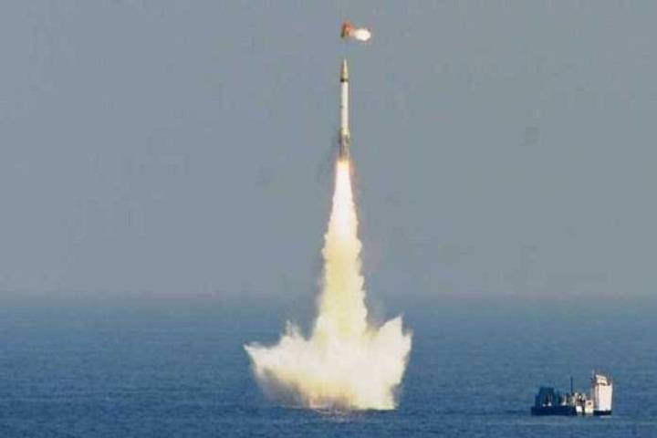 k4 nuclear capable missile test