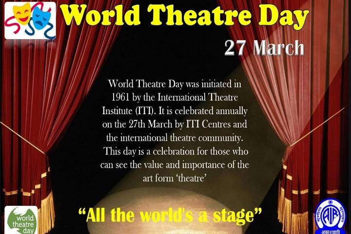 world theatre day observed on 27