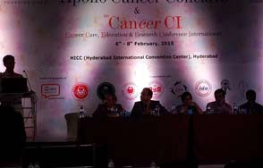 Doctor B Ravi Shankar Consultant Clinical Oncologist as faculty in Apollo Cancer Conclave Gallery