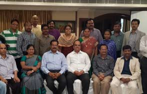 Doctor B Ravi Shankar Consultant Clinical Oncologist as secretary of new ap aroi chapter Gallery